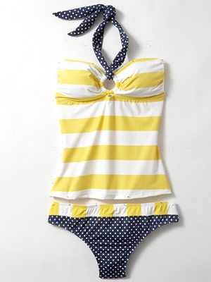 Adorable tankini ... Summertime! Love this! Because bikinis can be dangerous with a baby in the pool