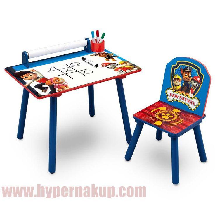 Detský set stolička a stôl Disney Paw Patrol