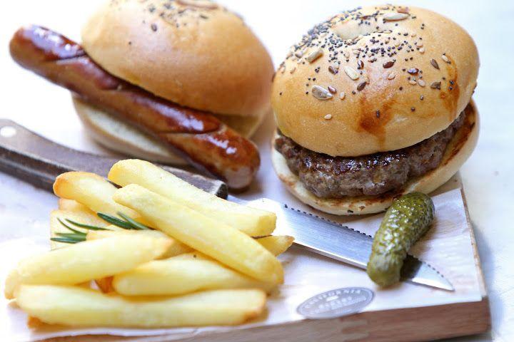 Baby Burger and Hot Dog by California Bakery