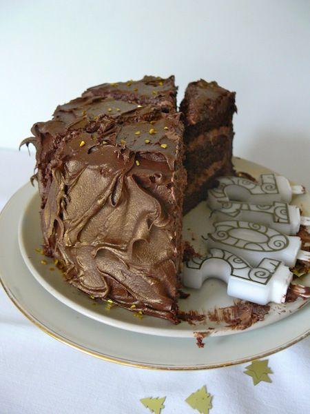 Layer Chocolate Cake with Chocolate Swiss Meringue Buttercream Filling ...