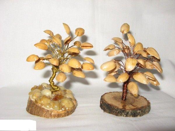 Creaciones pistacho cáscaras