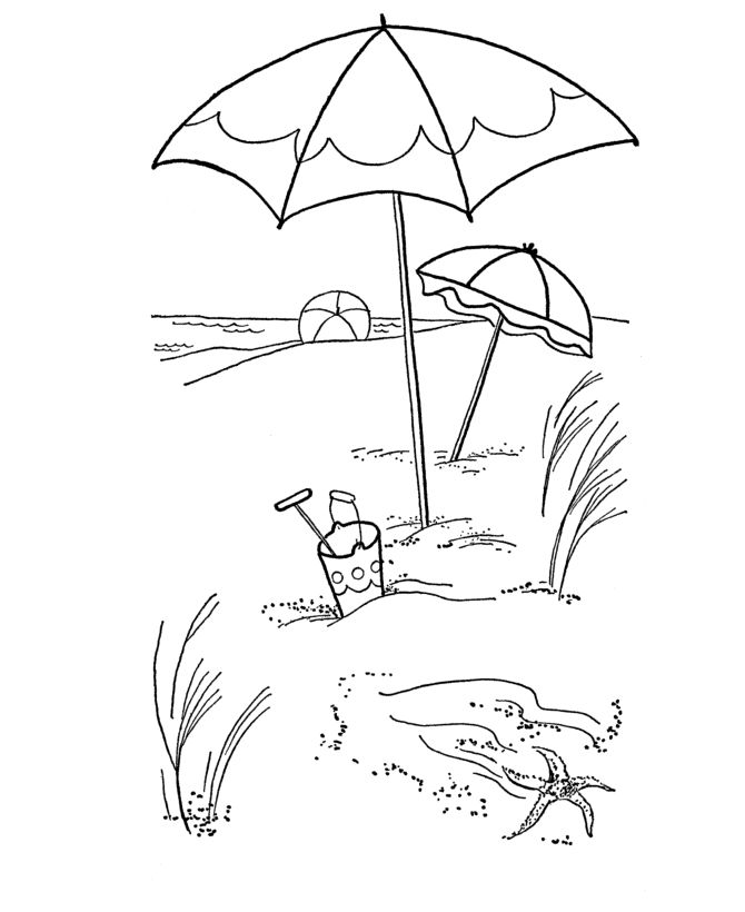 Printable Beach Coloring Pages See More 03 Summer 01 670820Repin ByPinterest For