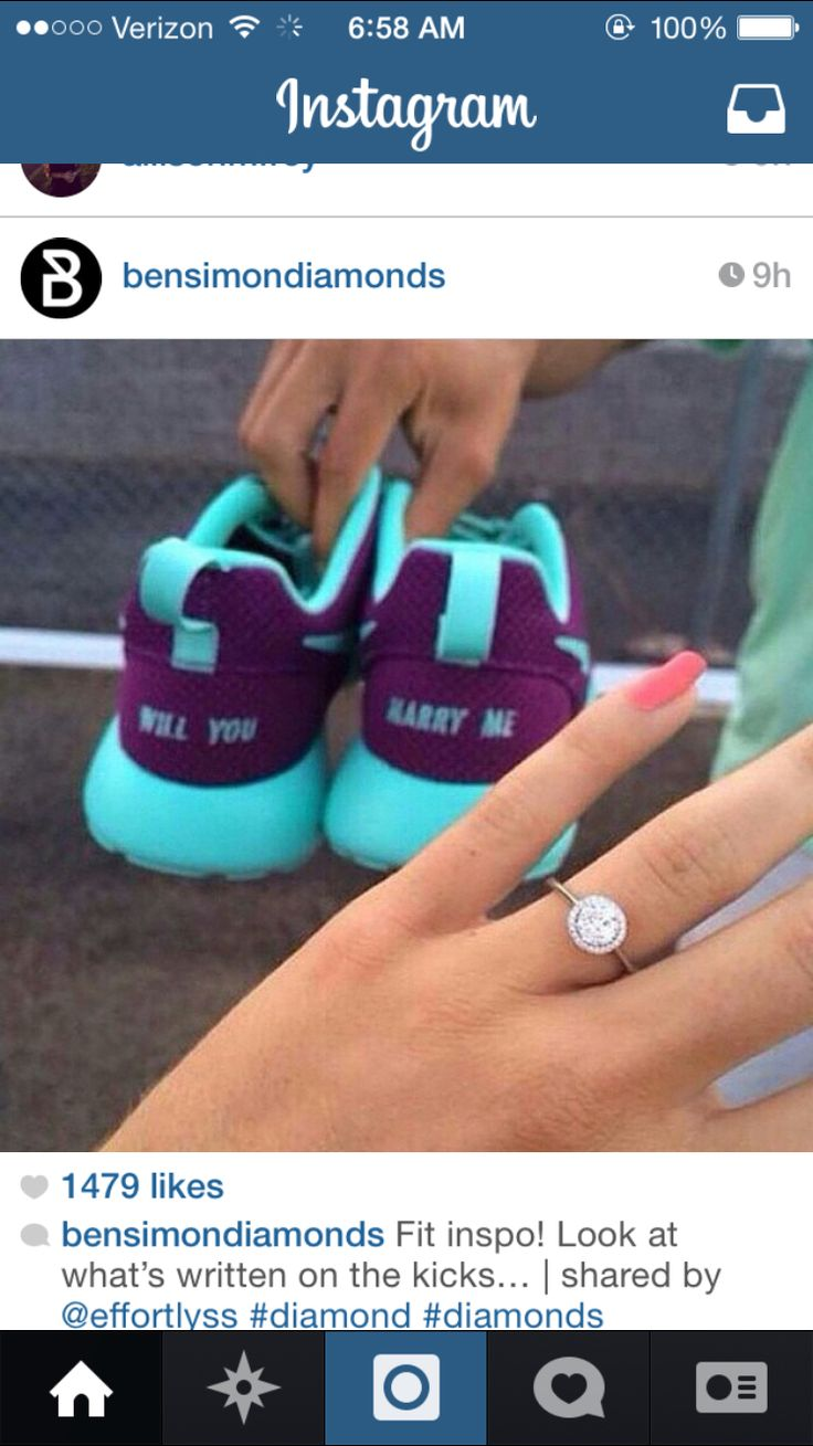 NikeID her some sweet tennis-shoes to go with your proposal, umm can you say creative!!! I'd keep those shoes forever!