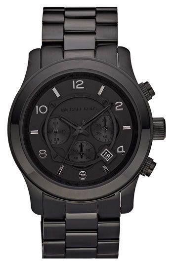 badass Blacked Out Runway Michael Kors watch.  fellas?