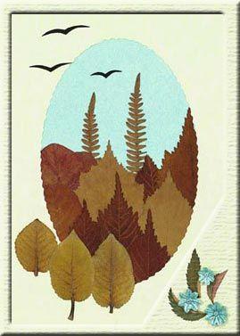 Пейзаж из осенних листьев