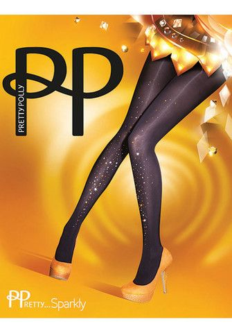 Embellished Gold Tights By Pretty Polly