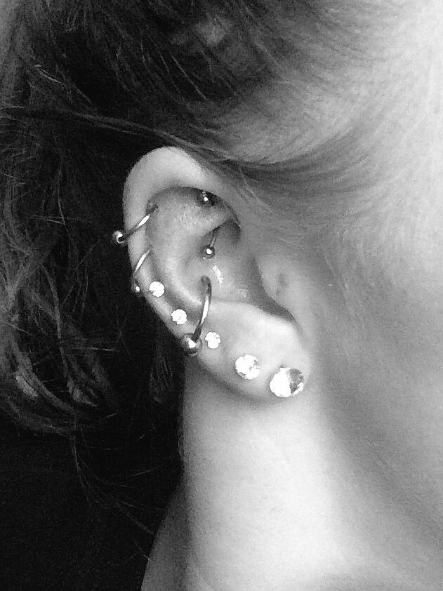 Piercings! Cartilage. Rook. Conch. Orbital. Multiple ear piercings.
