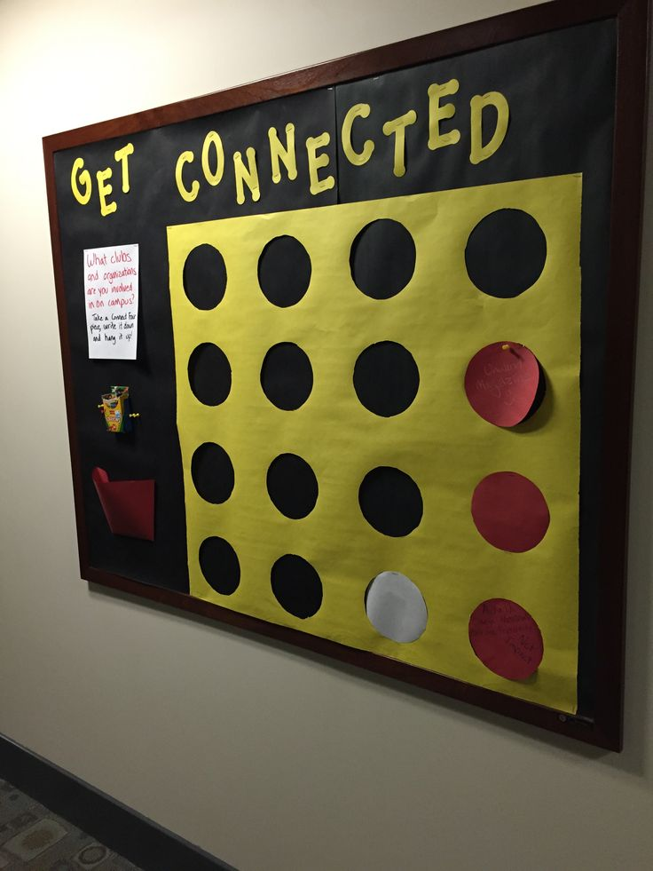Get Connected Connect 4 Bulletin Board Prince Frederick