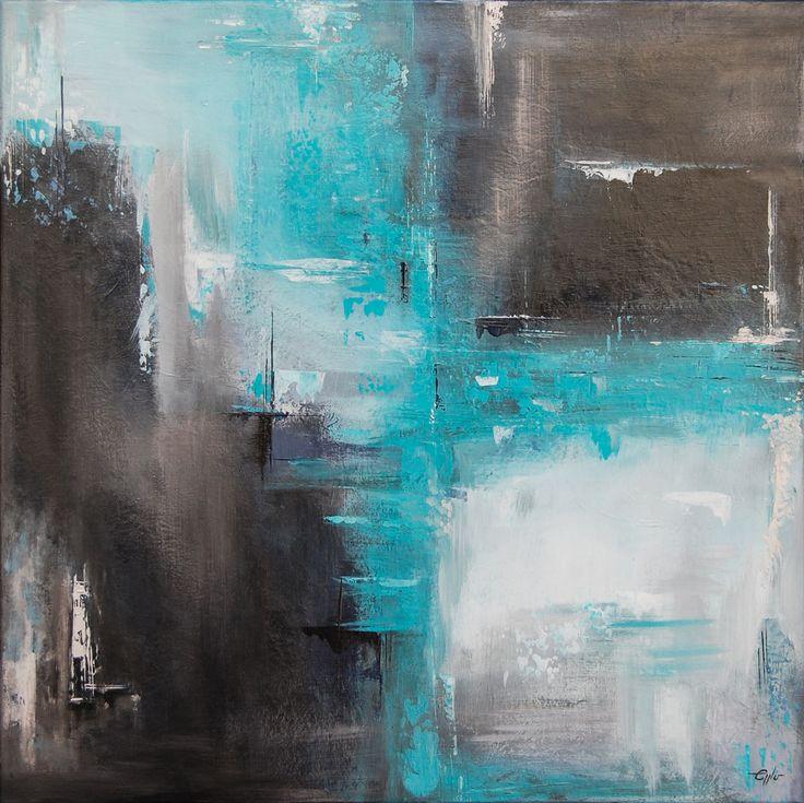 Abstrakte Acrylmalerei //
