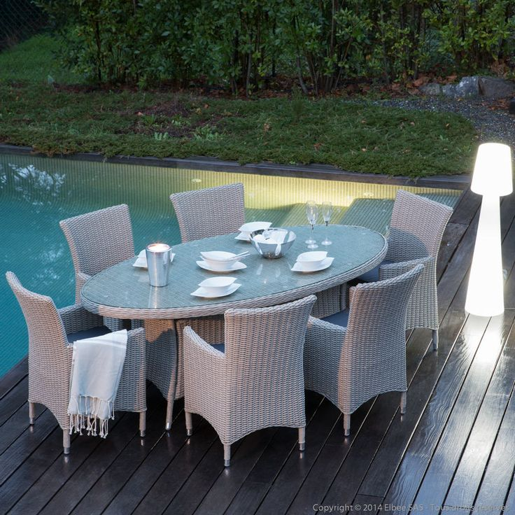 Awesome Table De Jardin Ovale Resine Tressee Gallery - House Design ...
