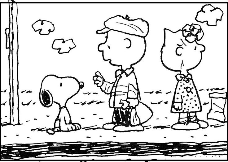 snoopy and employer coloring pages for kids printable snoopy coloring pages for kids - Snoopy Friends Coloring Pages