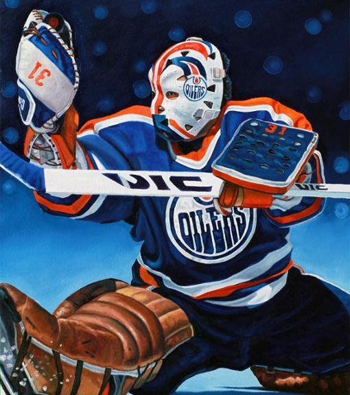 Grant Fuhr, Edmonton Oilers by Tony Harris