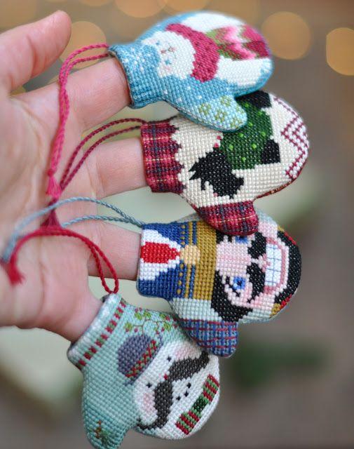 Живущая на Радугe: Варежки The Cricket Collection / Cross Stitched Mittens