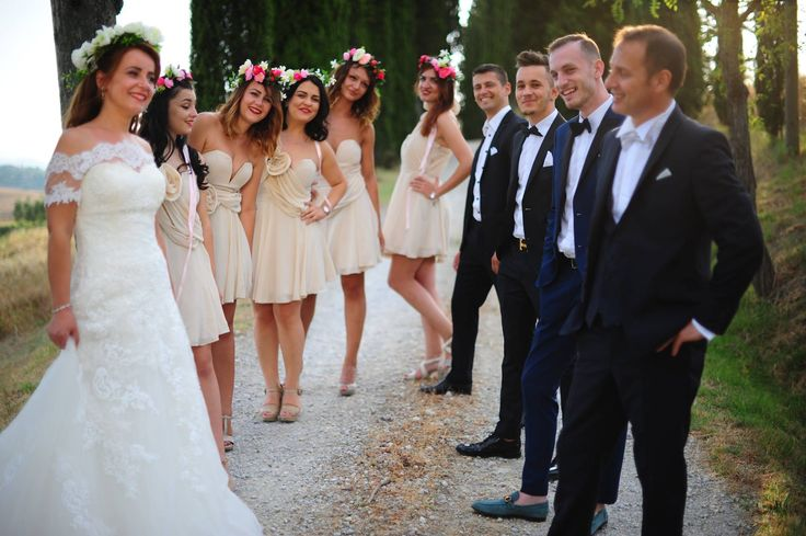 bestmen and bridesmaid wedding