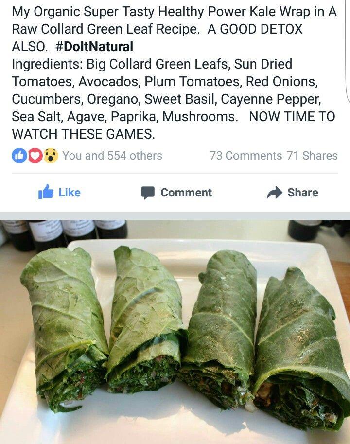Alkaline Vegan kale wraps with Dr Sebi approved ingredients