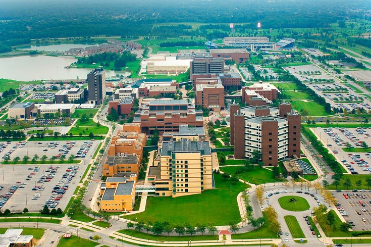 Aerial View of University at Buffalo's North Campus