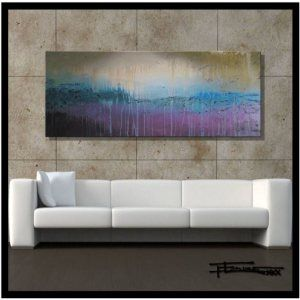 Modern-Abstract-Canvas-Wall-Art-Painting-Limited-Edition-GicleeGRACELAND60x24x15-Ready-to-Hang-US-artistELOISExxx-0