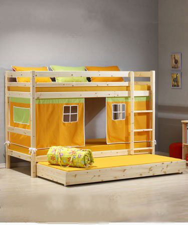 Pine bunk bed grammie goodness kids bedroom furniture - Childrens pine bedroom furniture ...