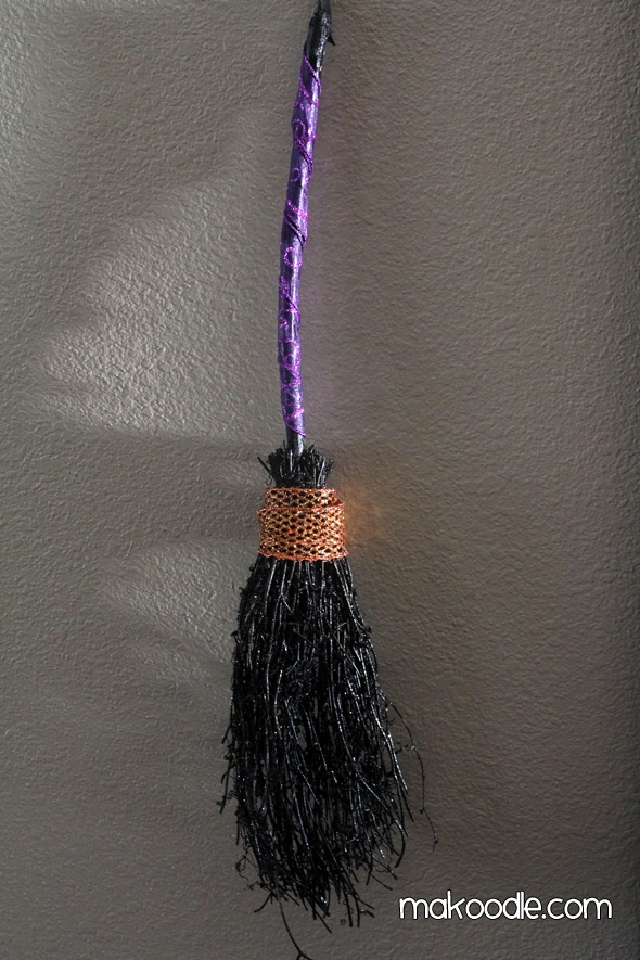Dressed up Witches Broom