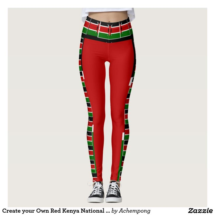 Create your Own Red Kenya National Flag Colors art Leggings #Create #your #Own #Red #Kenya #National #Flag #Colors #art #Leggings #Make #it #Kenyan