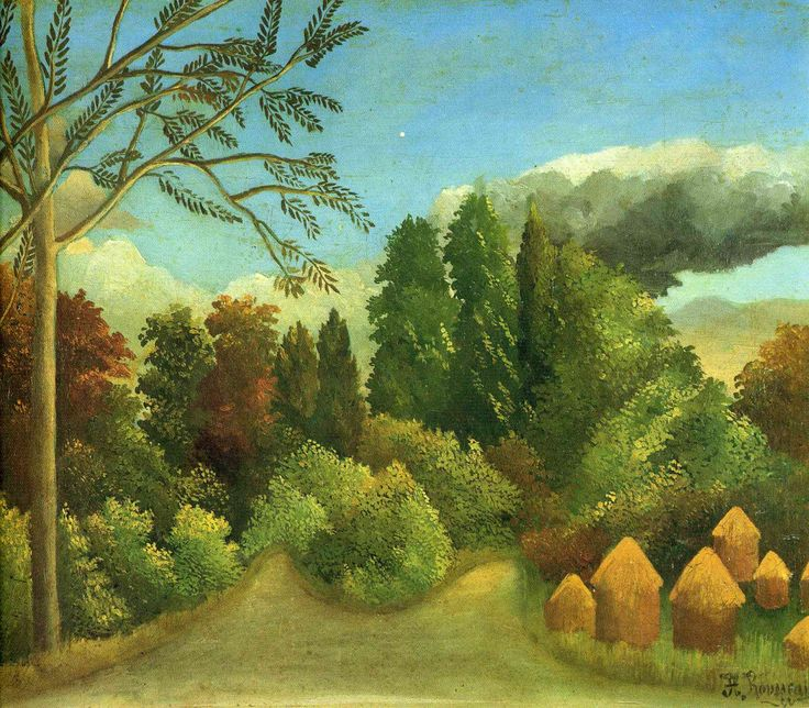 View of the Banks of the Oise by Henri Rousseau Medium: oil on canvas