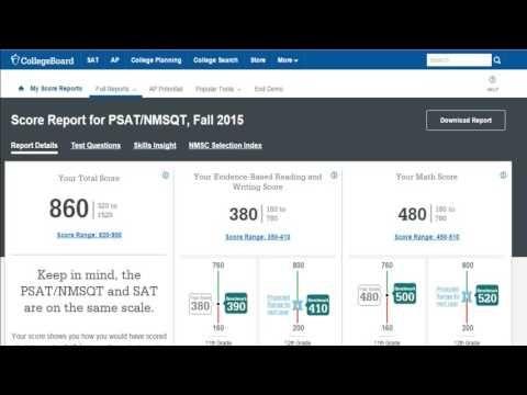 The New PSAT - Understanding Your Online Score Report - YouTube