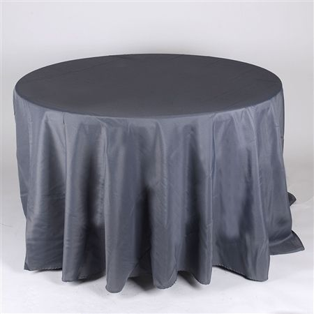 Charcoal 90 Inch Round Tablecloths