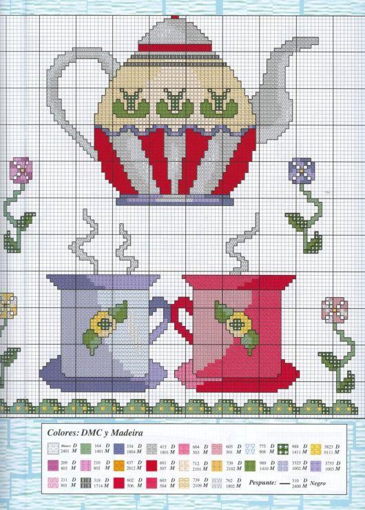 RP. Points de croix *<3* Cross stitch Coffe Cups