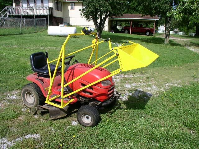 Best 25 lawn tractor with home made front loader images on – Garden Tractor Trailer Plans