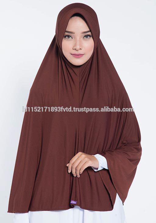 JERSEY INSTANT HIJAB ELZATTA ZARIA XL ASYILA DARK BROWN Hijab For The World
