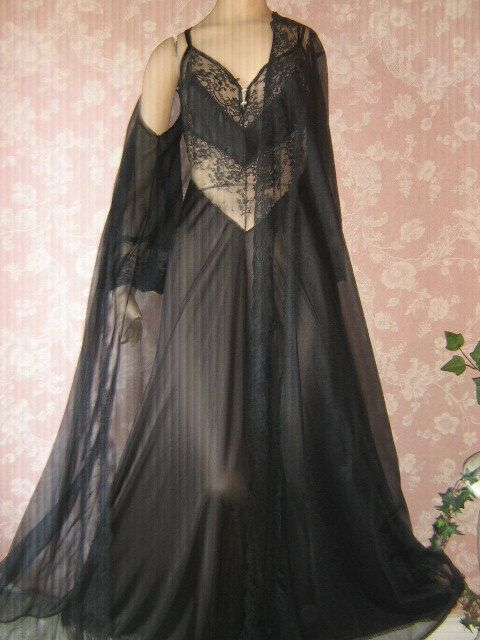 Vintage 70s Nightgown Peignoir Set My Style Pinterest