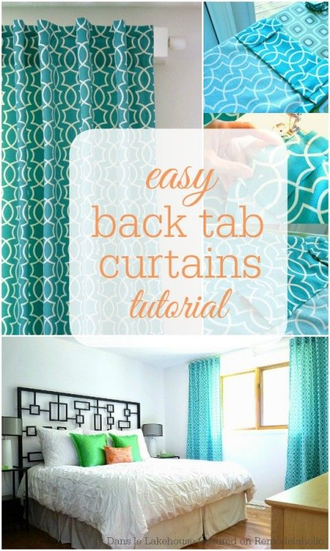 Easy Back Tab Curtain Tutorial from Dans le Lakehouse on @Remodelaholic #drapes #sewing #diy