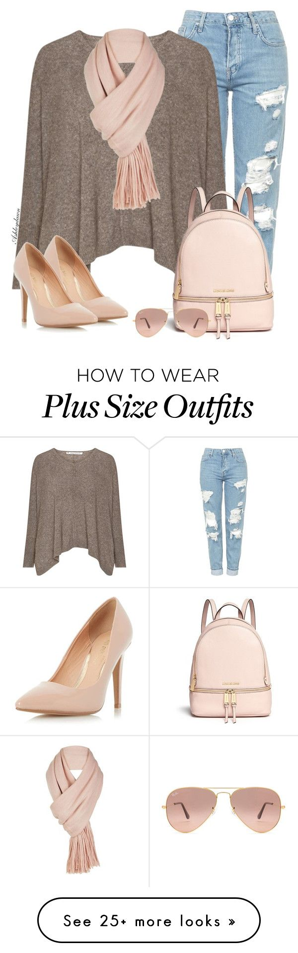 """""""Pink Scarf"""" by ashleydawn2 on Polyvore featuring Topshop, Dorothy Perkins, Michael Kors, Ray-Ban, Free People and scarf"""
