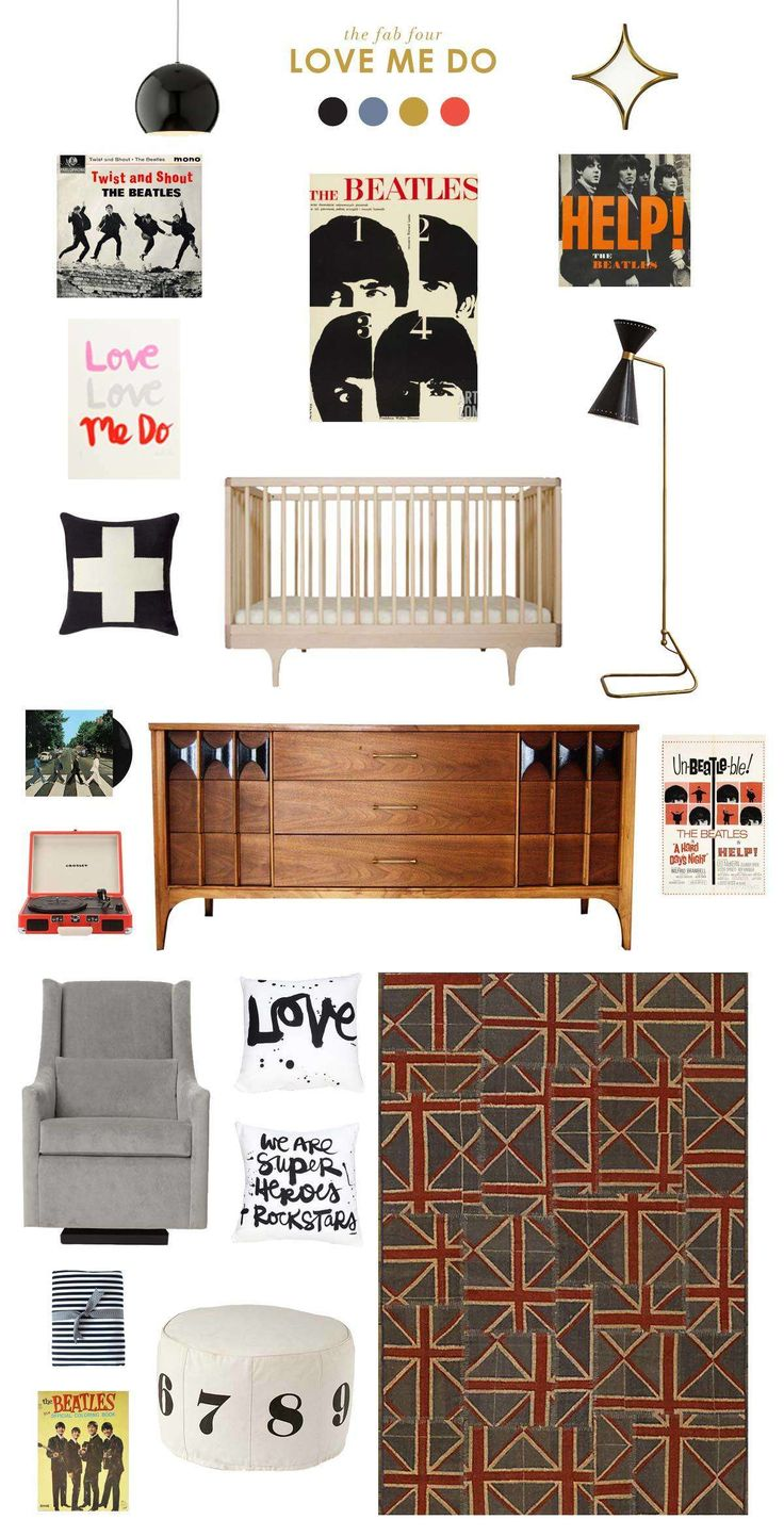 beatles baby nursery inspiration #beatles #thebeatles