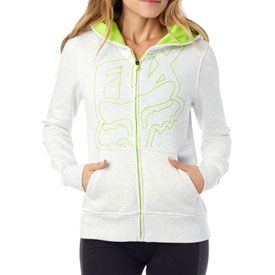 Fox Racing Women's Specific Zip-Up Hooded Sweatshirt       #green #yellow #jacket #snow #clothes #fashion #black #pink #white #teal #zip-up #pockets #hoodie #fall #winter #fox #foxracing