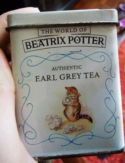 The world of Beatrix Potter  authentic earl grey tea tin