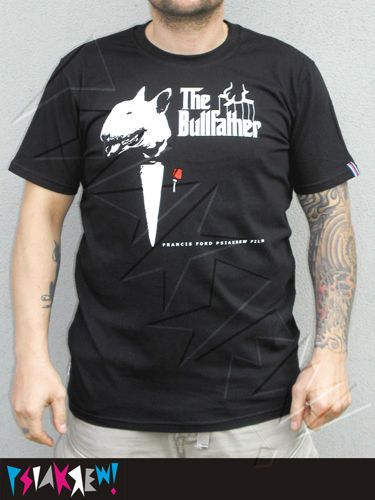 Bull Terrier Bull Father hand print T-shirt by PSIAKREW on Etsy