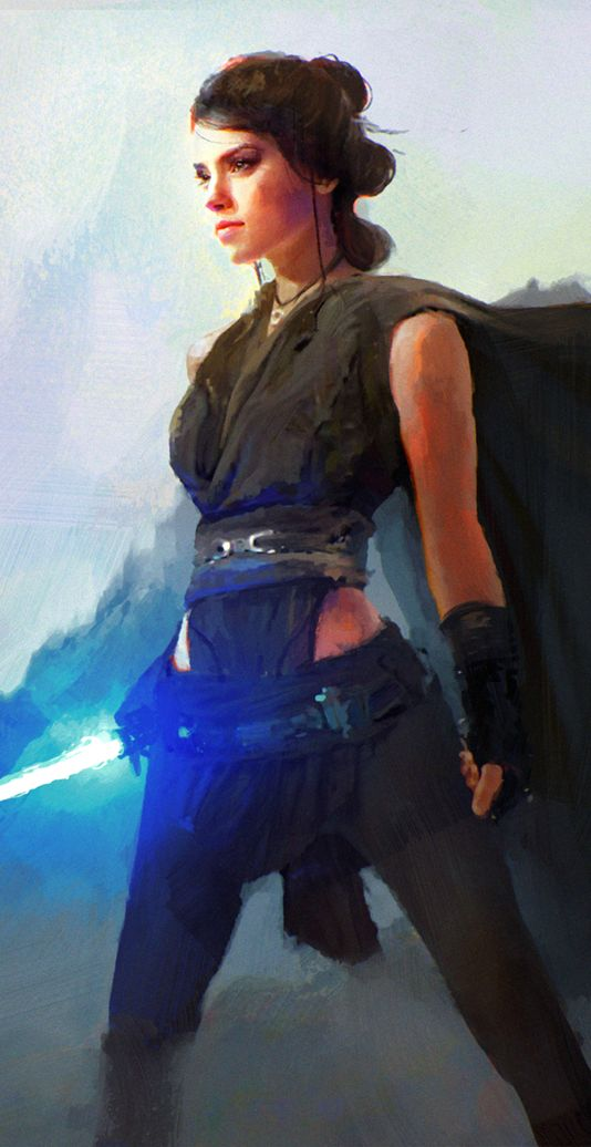 Rey by WojtekFus on DeviantArt (detail) - More at https://pinterest.com/supergirlsart/