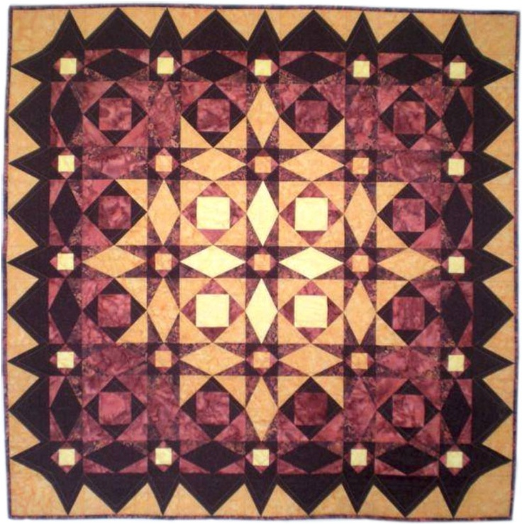 Image detail for -sunset after a storm at sea by mona beck this is my first quilt ...