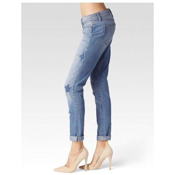Paige Jimmy Jimmy Skinny - Athena Indigo Patch ($299) ❤ liked on Polyvore featuring jeans, athena indigo patch, denim, pants, slim boyfriend jeans, skinny leg jeans, skinny jeans, white skinny jeans and white super skinny jeans