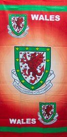 Wales Crest Football Velour Towel