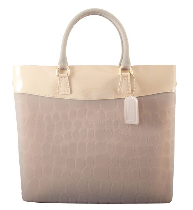 Pisidia Leather and Silicone Tote Shopper Tallow - A fashion first, PISIDIA has spent years perfecting its use of silicone to create a product that is soft to touch, flexible and yet remarkably robust and water-resistant.