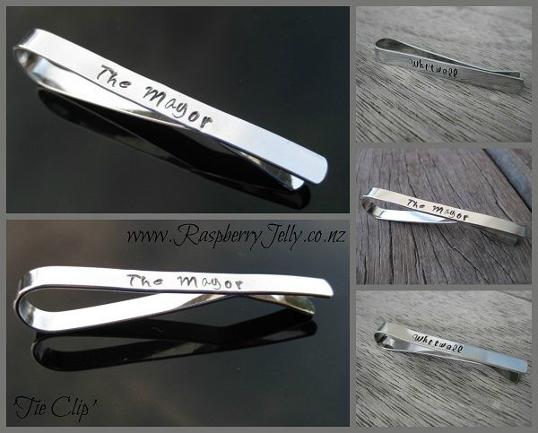A distinguished gentlemans must. Keep that tie in check with a sterling or alumnium handcrafted Tie Bar.