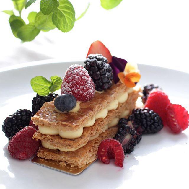 Mixed Berry Napoleons Recipe — Dishmaps
