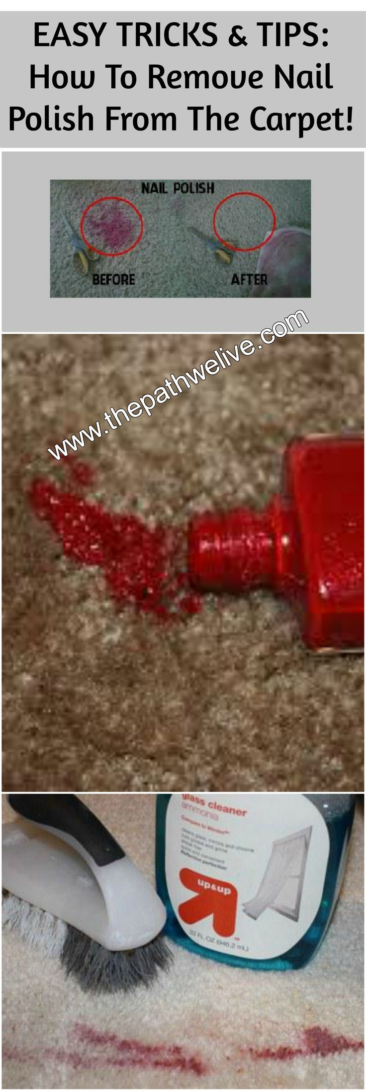 #cleaning #tips #remove #nailpolish #carpet #materials #help #solutions