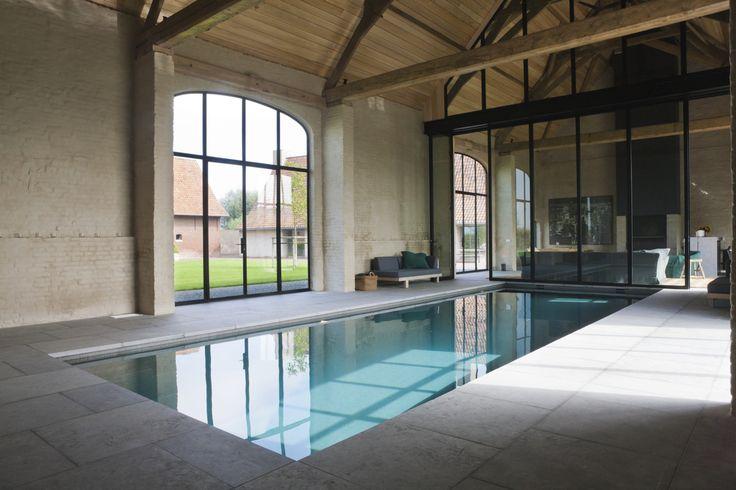 Privé sauna met zwembad