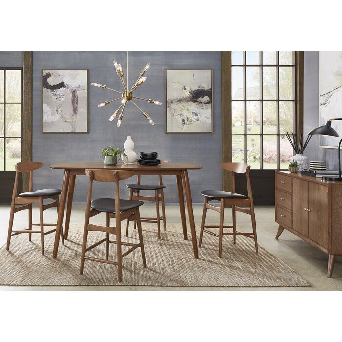 Kole Mid-Century Counter Height Dining Table | Dining table, Mid ...