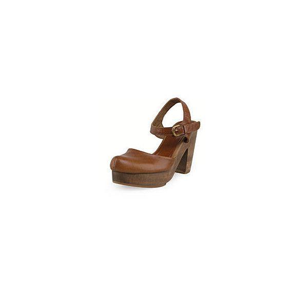 La Garçonne RACHEL COMEY DEKALB CLOG SANDAL (1.155 BRL) ❤ liked on Polyvore featuring shoes, sandals, heels, clogs sandals, heeled clogs, heeled sandals, rachel comey and heeled clog sandals