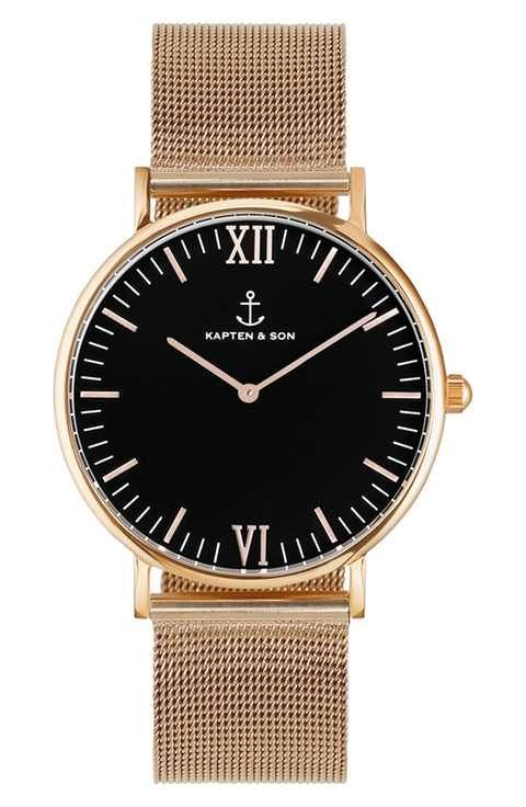 Kapten and Son 'Campina' Mesh Strap Watch, 36mm
