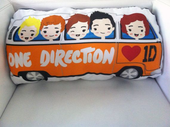 Exclusive One Direction VW Bus Throw Pillow Cover 1D by PopEyeCon, $20.00